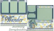 FLOWER GARDEN 12X12 Page Layout Scrapbook Kit LIMITED