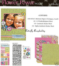 FLOWER POWER GIRL 8.5X11 Scrapbook Kit Paper Studio NEW