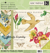 Foliage Specialty 12X12 Scrapbooking Paper Pad K&Company Tim Coffey 28 Sheet NEW