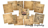 FONTASTIC Scrapbooking 6x6 inch Paper Pad INDIGOBLU Mixed Media 24 Sheets NEW