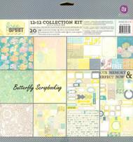 Fun Free Spirit Collection 12x12 Scrapbooking Paper Pad PRIMA Paper Crafting NEW