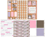GIRL FRIEND Pretty All Girl 12x12 Scrapbooking Kit Vintage Press Collection New