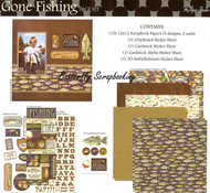 Gone Fishing 12X12 Scrapbooking Kit The Paper Studio The Biggest Fish Ever NEW