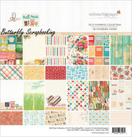 HALL PASS Paper Pad 12X12 Scrapbooking Paper Pad 24 Sht Webster's Pages PP26 NEW