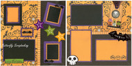 Halloween Bats & Skulls 2 Page 12X12 Page Layout Scrapbook Kit LIMITED New