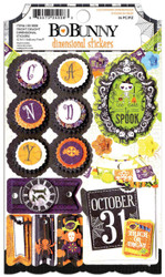 Halloween Fright Delight 3D Scrapbook Stickers Bo Bunny BoBunny Paper Crafts NEW