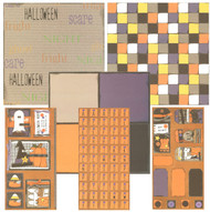 HALLOWEEN Ghost & Pumpkins 12x12 Scrapbooking Kit Vintage Press Collection New