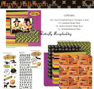 HALLOWEEN H 12X12 Scrapbooking Kit The Paper Studio NEW