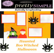 HALLOWEEN NIGHT PREMADE 12X12 Scrapbooking 2 PAGE LAYOUT New Just Add Photos