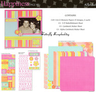 HAPPINESS 12X12 Scrapbooking Kit Paper Studio NEW