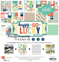 Happy Go Lucky Collection 12X12 Scrapbooking Kit Echo Park Photo Freedom New