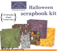 HAPPY HALLOWEEN 12X12 Scrapbooking Kit Karen Foster NEW