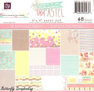 HELLO PASTEL COLLECTION Scrapbooking 6x6 inch Paper Pad PRIMA 48 Sheets NEW