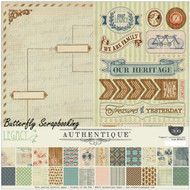 Heritage LEGACY Collection 12x12 Scrapbooking Paper Crafting Kit Authentique NEW
