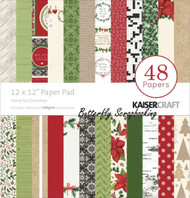 HOME FOR CHRISTMAS 12x12 Scrapbooking Paper Pad 48 Sheets Kaisercraft PP226  NEW