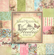 Kirby Teesdale Studio 12X12 Scrapbooking Paper Pad Paper Studio 80 Sheets NEW