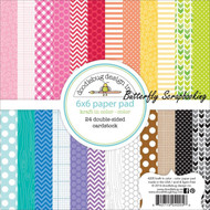 Kraft In Color Scrapbooking 6x6 inch Paper Pad Doodlebug 24 Sheets 4205 NEW