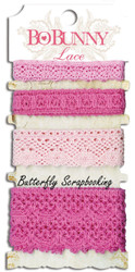 Lace Blush Pink Scrapbooking Paper Crafting Embellishment BoBunny Bo Bunny NEW