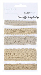 Lace Natural Lace Pack Scrapbooking Paper Crafting Embellishment Kaisercraft NEW