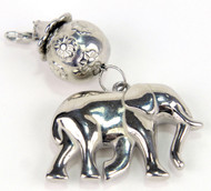 Laliberi Scarf Charm Jewelry Ornament Sliver Elephant & Bead EK Success NEW