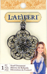 Laliberi Scarf Charm Jewelry Ornament Sliver Petal Flower EK Success NEW