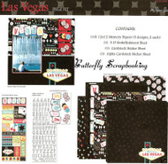 LAS VEGAS TRAVEL Vacation 12X12 Scrapbooking Kit by Paper Studio 665307 New