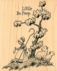 Little Bo Peep Wood Mounted Rubber Stamp Stampabilities Nursery Rhymes NEW