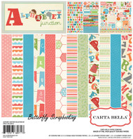 Little Kids Alphabet Junction 12X12 Scrapbooking Kit Carta Bella Paper Co. NEW