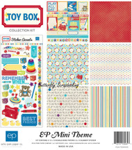 Little Kids Toy Box Collection 12X12 Scrapbooking Kit Echo Park Paper NEW