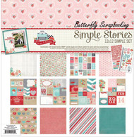 Love Hugs Kisses Simple Set Collection 12X12 Scrapbooking Kit Simple Stories NEW