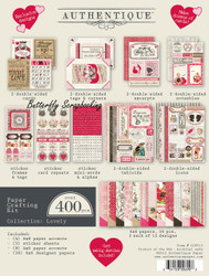 Love Valentines Day Scrapbooking Paper Crafting Card Making Kit Authentique NEW