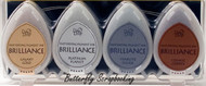 Memento BRILLIANCE Ink 4 Pack Fast Drying Pigment Ink Tsukineko BD-100-006 NEW