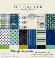 Men Boys Suave Collection 12x12 Scrapbooking Paper Crafting Kit Authentique NEW