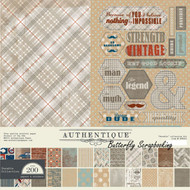 Men Durable Collection 12x12 Scrapbooking Paper Crafting Kit Authentique New