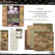 MILITARY HERO 12X12 Scrapbooking Kit Paper Studio NEW