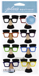 Mini Noses With Glasses EK SUCCESS Jolee's Boutique 3D Stickers NEW