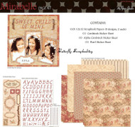 MIRABELLE 12X12 Scrapbooking Kit The Paper Studio NEW