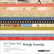 Miss Match Collection 6.5 inch Paper Pad Scrapbooking Kit Kaisercraft NEW