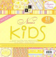 NANAS KIDS Collection 12X12 Scrapbook Paper 48 SHEETS