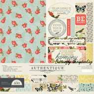 Nature HARMONY Collection 12x12 Scrapbooking Paper Crafting Kit Authentique New