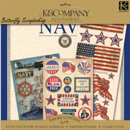 NAVY MILITARY 12X12 Scrapbooking Kit K&Company New