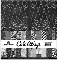 Nior BLACK Color Ways 12x12 Scrapbooking Paper Pack Paper House PA-0053 NEW