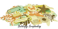 OCEAN BEACH ROCK POOL Collectables Scrapbooking 50 pc Die Cuts Kaisercraft NEW
