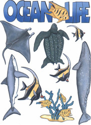 Ocean Life Scrapbook Die Cuts Quick Cropper Cuts Outdoors & More NEW