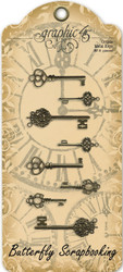 Ornate Metal Keys Scrapbooking Paper Crafting Embellishments Graphic 45 4500545