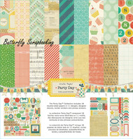Party Day Collection 12X12 Scrapbooking Kit Crate Paper American Crafts New