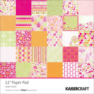 Pink Sweet Treats 12x12 Scrapbooking Paper Pad 60 Sheet Kaisercraft PP204 NEW