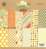 Prairie Hill Collection 12X12 Scrapbooking Paper Pack Pink Paislee NEW