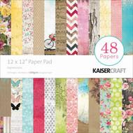 Pretty Expressions 12x12 Scrapbooking Paper Pad 48 Sheet Kaisercraft PP213 NEW