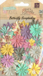 Prima Flowers 36 Flowers Hello Pastel Collection Scrapbooking Prima Inc.NEW